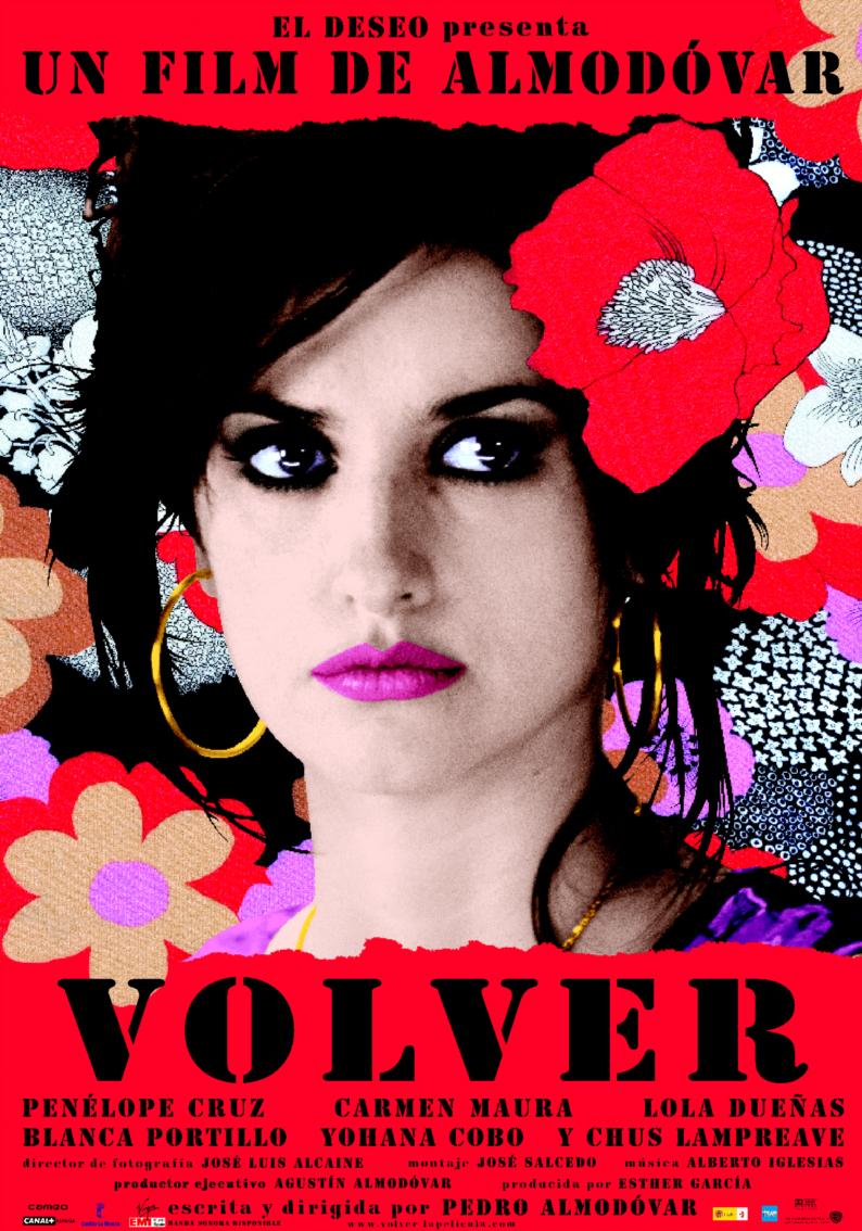 Cartel de 'Volver' diseñado por Juan Gatti (Foto: El Deseo)