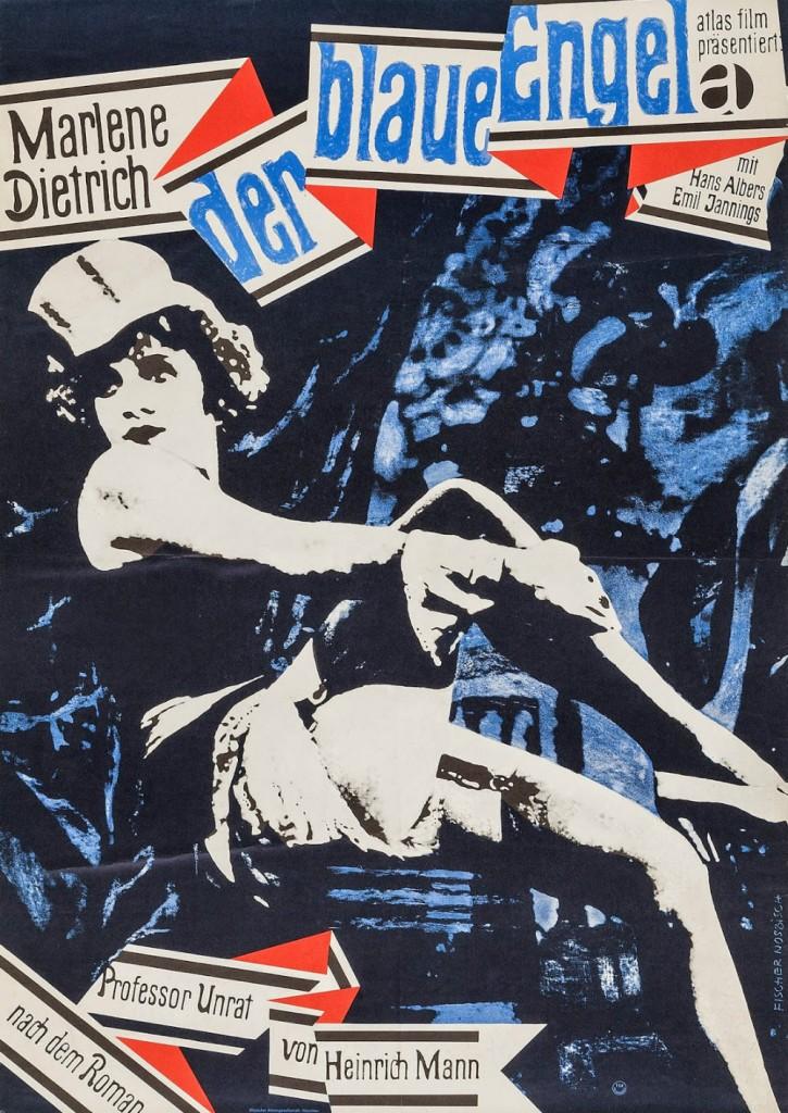 Cartel alemán de 'El ángel azul'