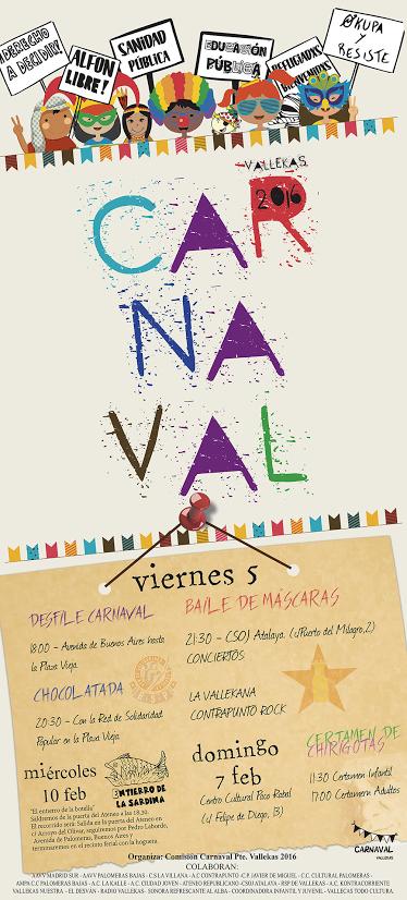 Programa del Carnaval de Puente de Vallecas