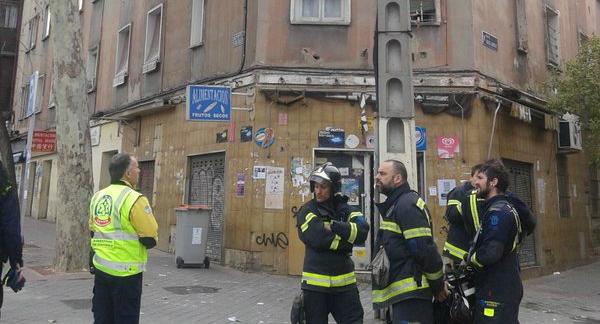 Fachada del edificio desalojado (Foto: Ayto. de Madrid)