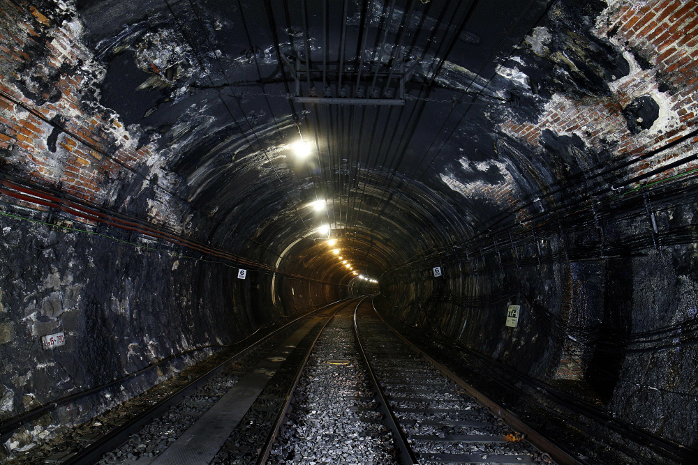 El túnel donde se llevarán a cabo las obras (Foto: Metro)