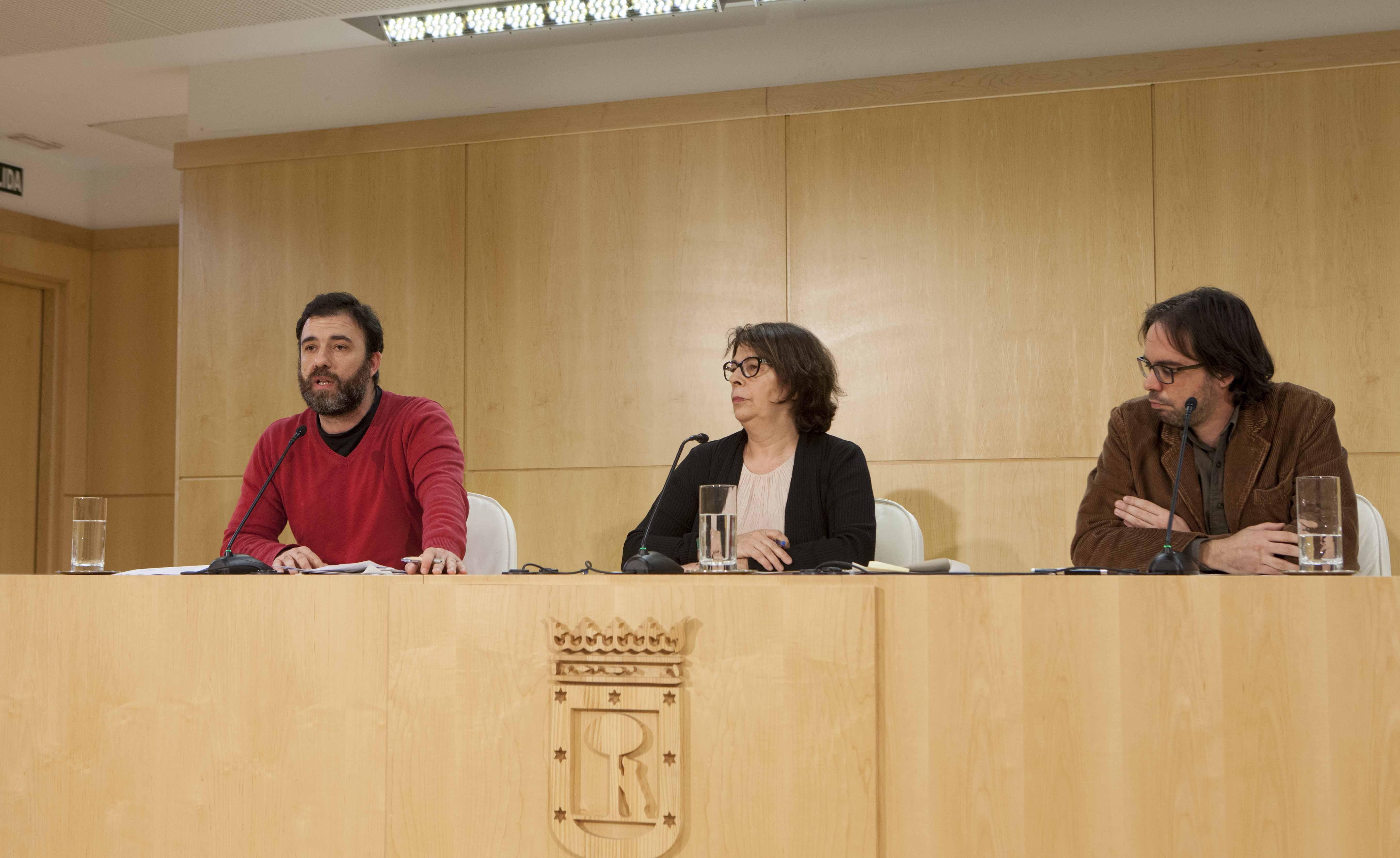 Nacho Murgui, Inés Sabanés y Alvaro Fernández Heredia (Foto: Ayto. de Madrid)