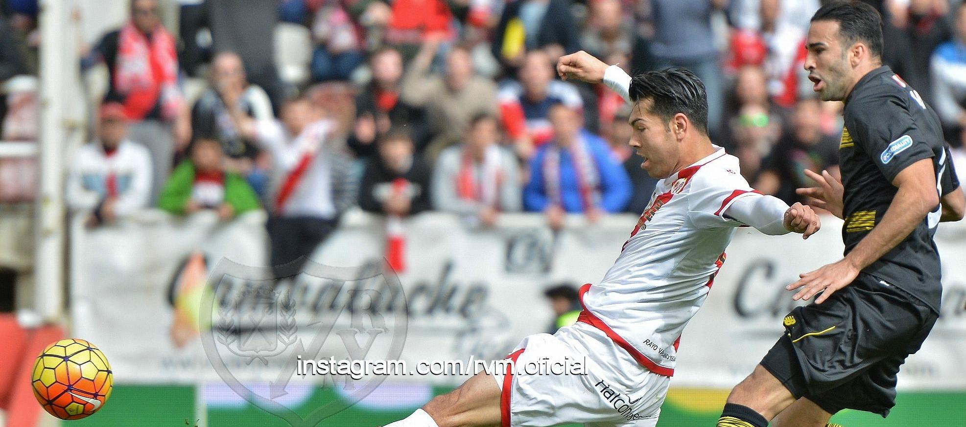 Miku, autor del gol del empate del Rayo Vallecano