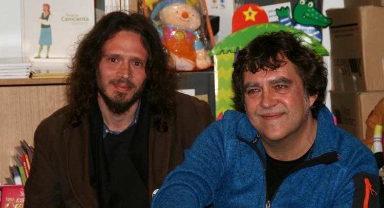El editor Rubén Darío junto a Vicente Muñoz Álvarez