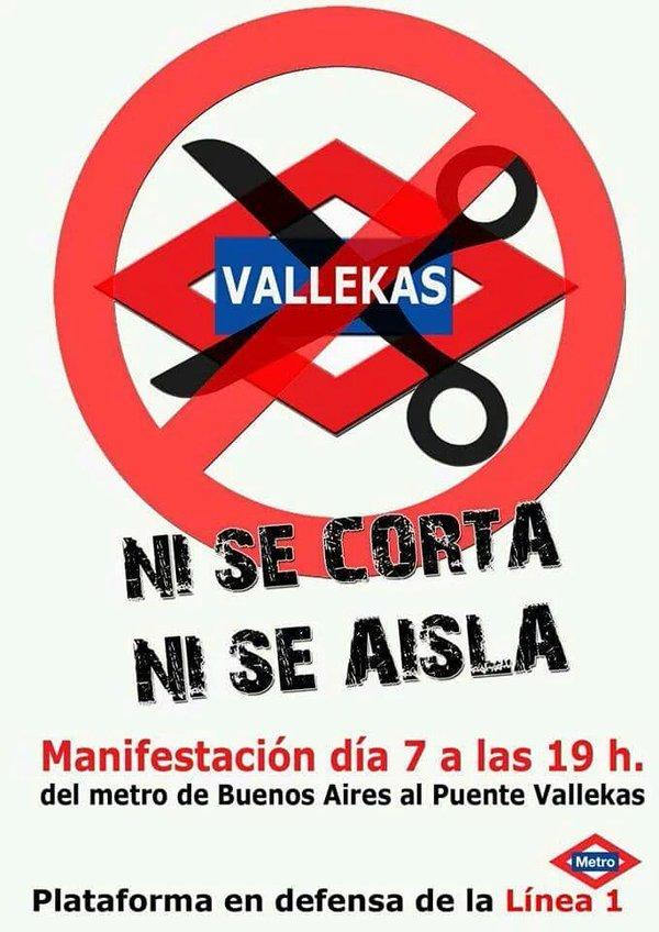 Cartel de la protesta del 7 de abril
