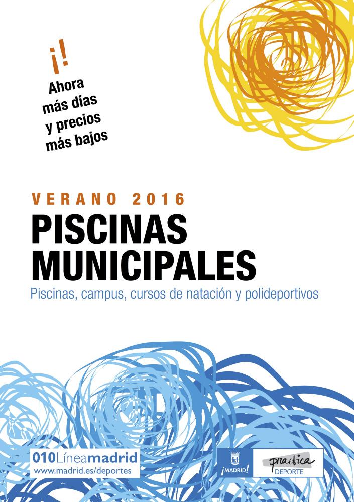 Cartel de las piscinas municipales 2016
