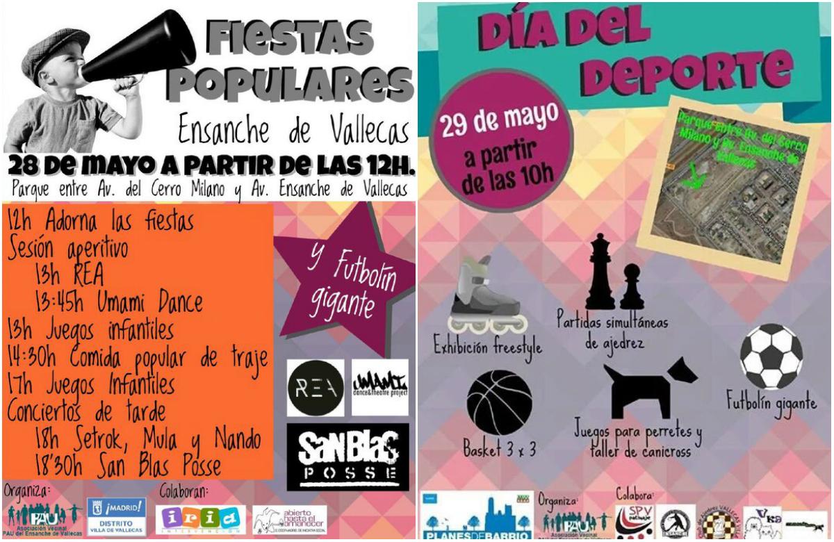 Fiestas Populares y Día del Deporte en el Ensanche de Vallecas