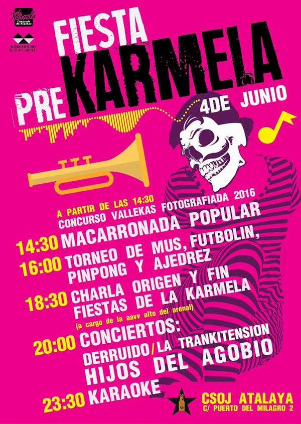 Cartel de la Fiesta de la Pre-Karmela