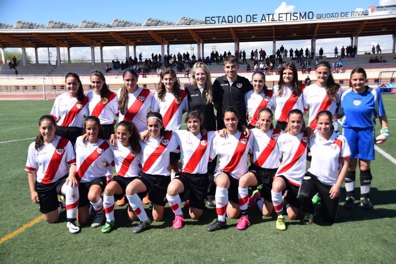 Equipo infantil femenino del Rayo Vallecano (Foto: Ayuntamiento de Madrid)