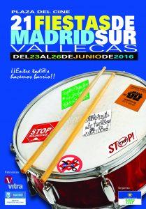 Cartel de las fiestas de Madrid Sur