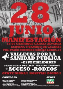 Este martes, protesta en Villa de Vallecas