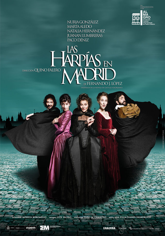 Cartel de 'Las harpías en Madrid' (FOTO: www.lasharpiasenmadrid.es)
