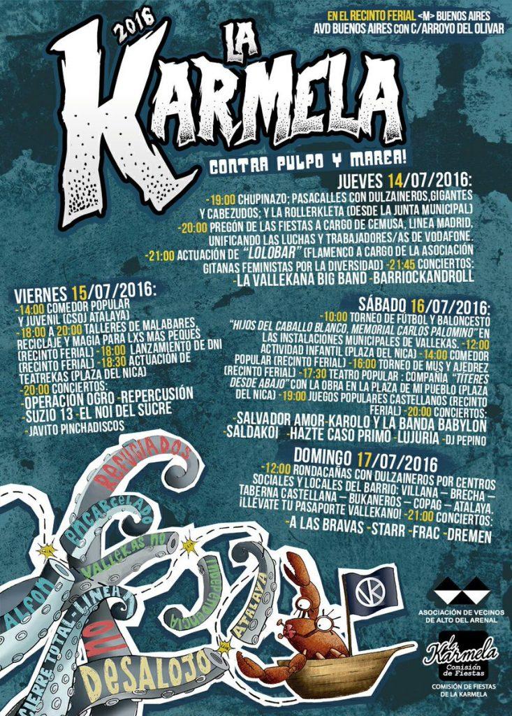 Cartel Fiestas La Karmela