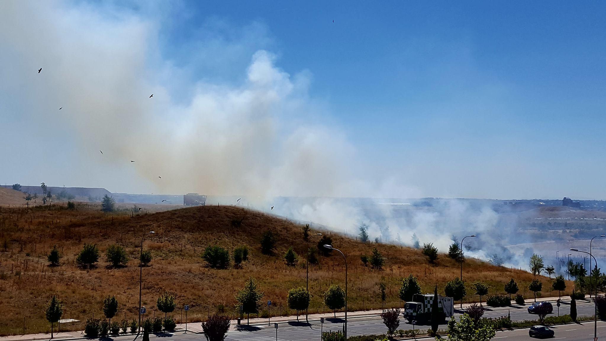 Fuego en La Gavia (Foto: Edivaldo De Oliveira Martucho)