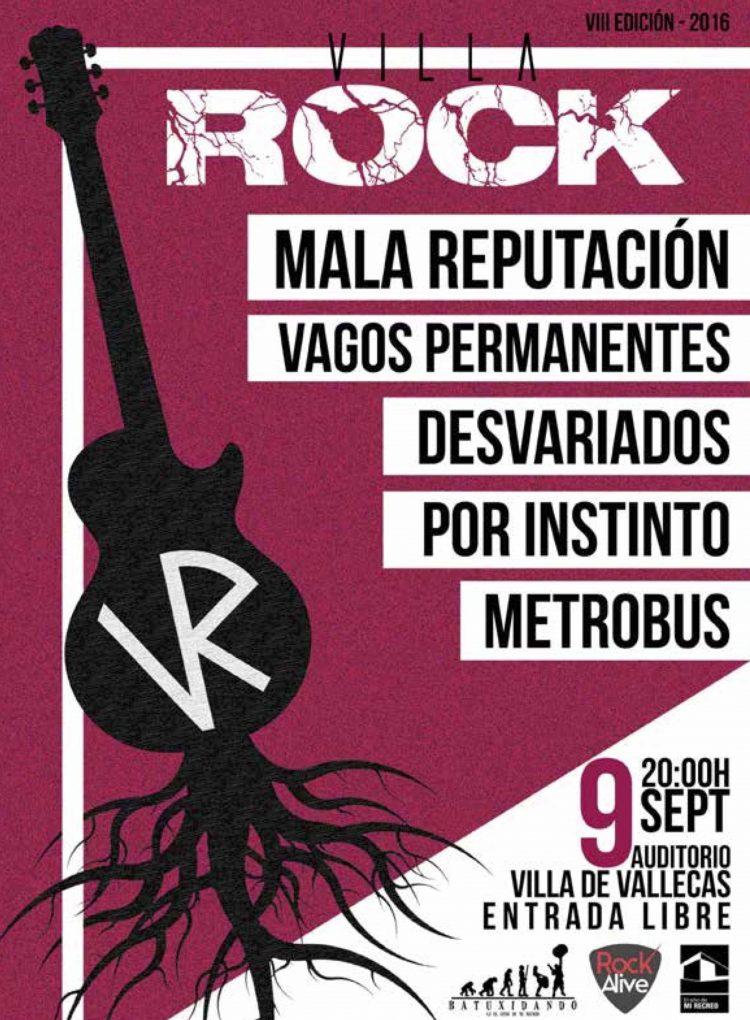 Cartel de Villa Rock 2016
