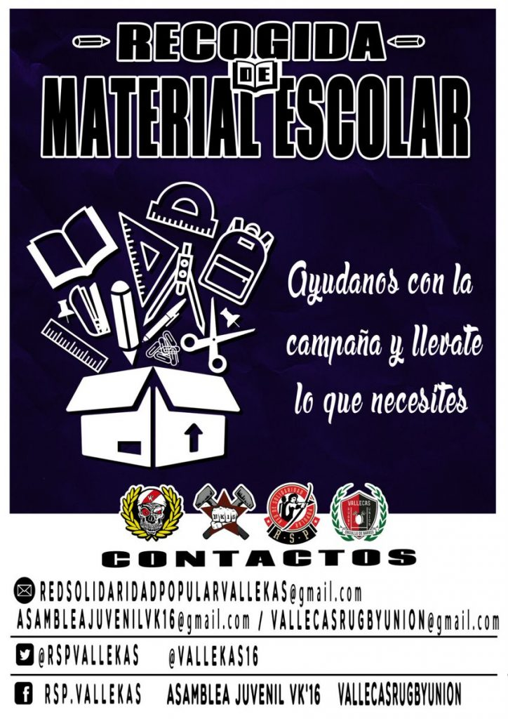 Recogida solidaria de material escolar