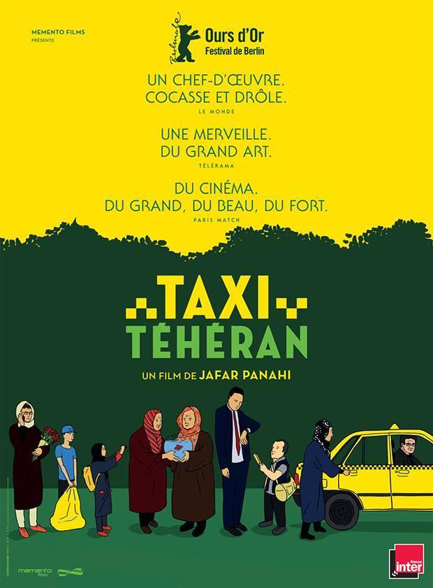 Cartel francés de 'Taxi Teherán'
