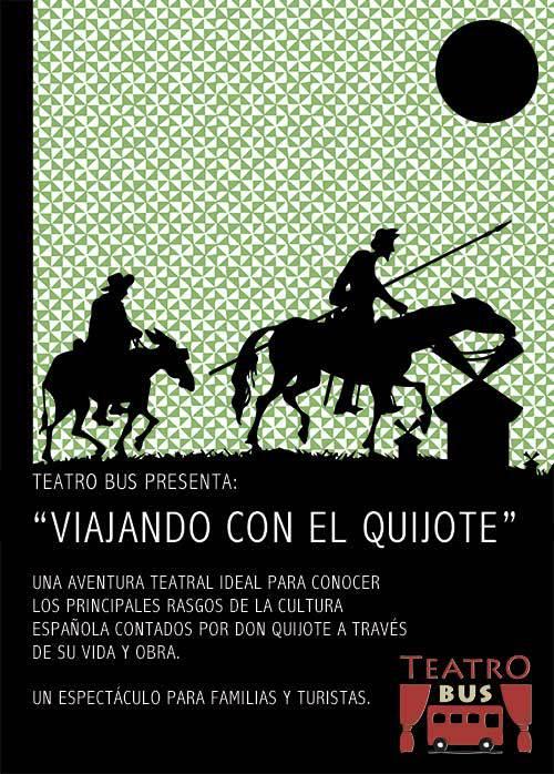 Cartel de 'Viajando con el Quijote' (Foto: web TeatroBus)