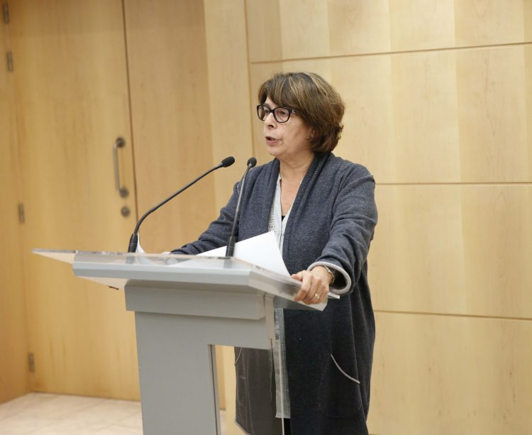 Inés Sabanés en la primera reunión de la Mesa por la Limpieza (Foto: Madrid.es)