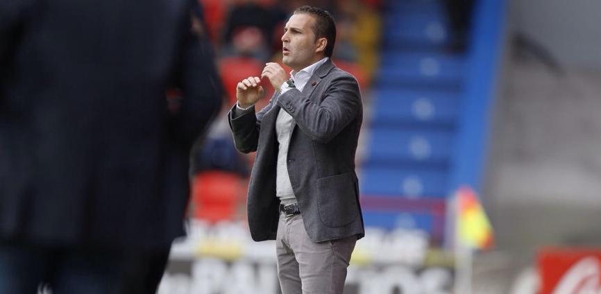 El entrenador del Rayo Vallecano, Rubén Baraja