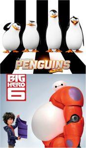 'Los pingüinos de Madagacar' y Big hero 6'