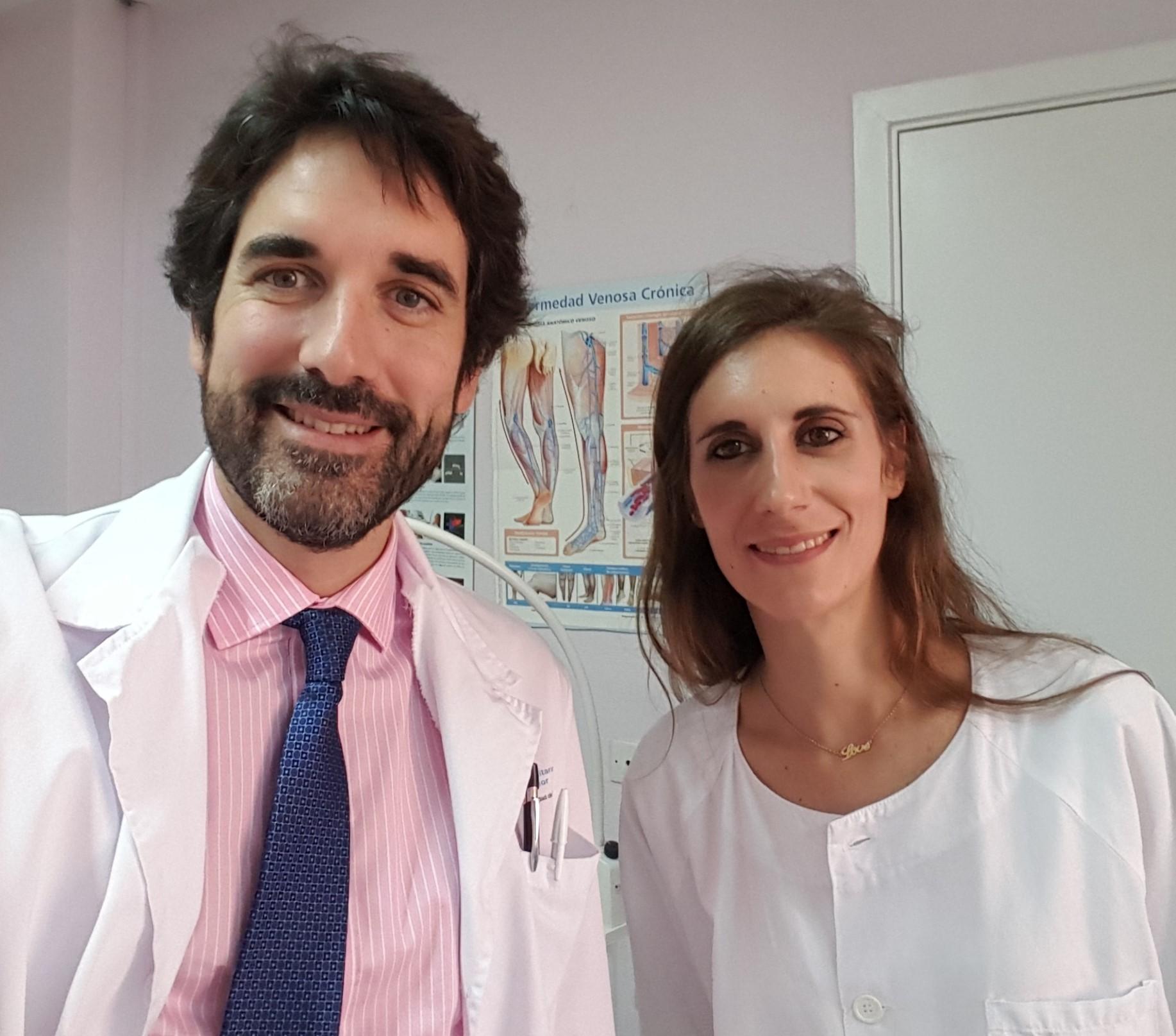 La Dra. Conde Montero y el Dr. De la Cueva Dobao