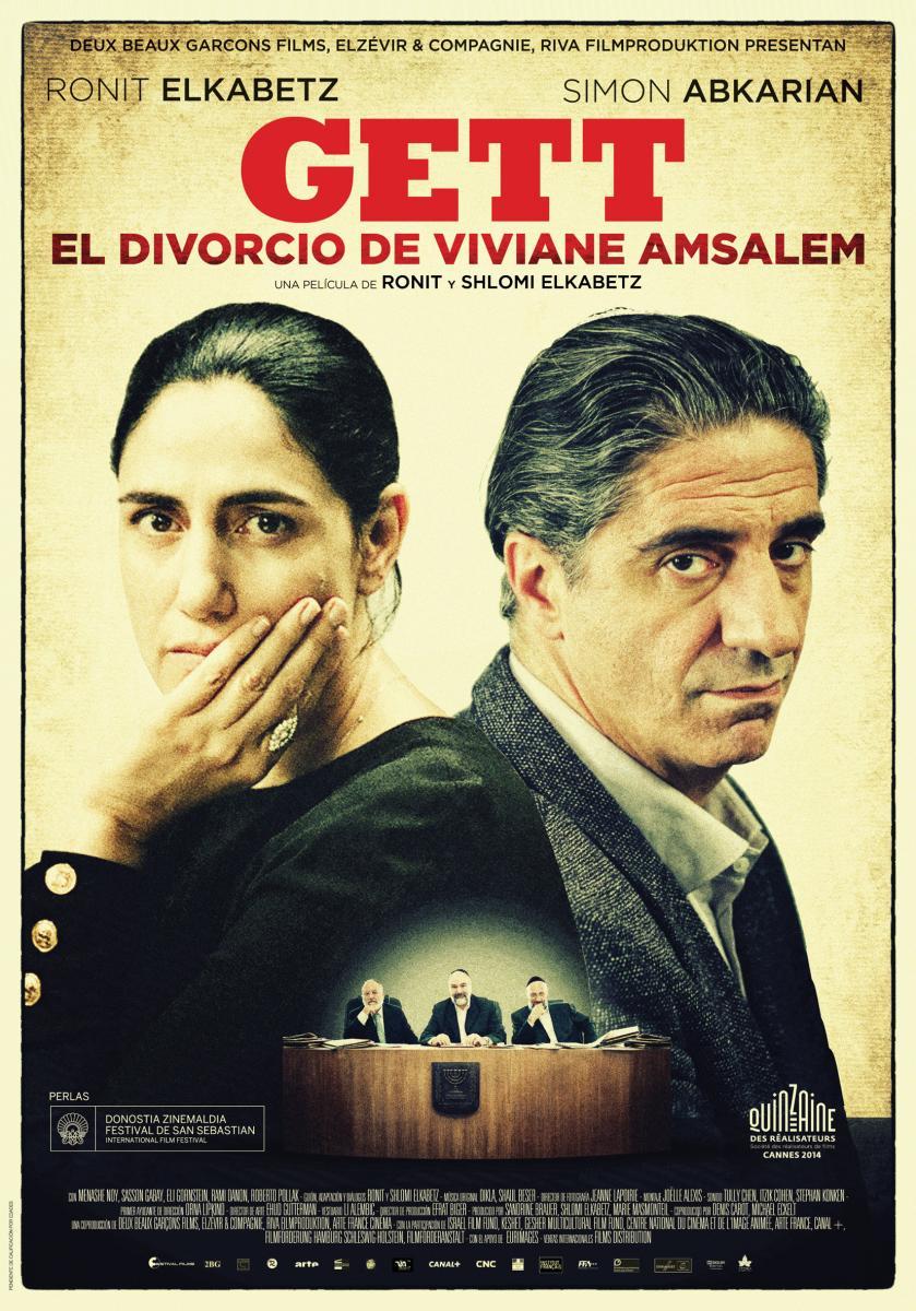 Cartel de 'Gett: El divorcio de Viviane Amsalem'