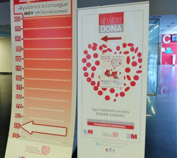 """Un """"donómetro"""" reflejó las aportaciones de los donantes (Foto: Servicio madrileño de Salud)"""