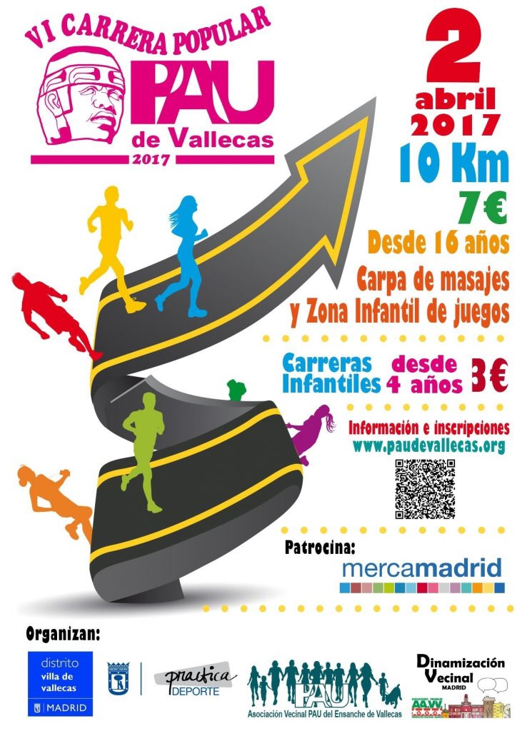 Cartel de la VI Carrera del PAU de Vallecas