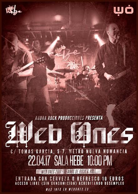 Cartel del concierto de Web Ones (Foto: Hebe)