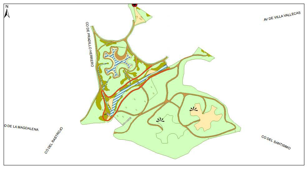 Plano del parque de la Gavia (Ayuntamiento de Madrid)