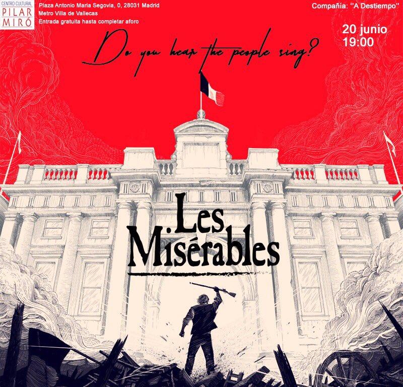 Cartel de 'Los Miserables' (Foto: Compañía A Destiempo)