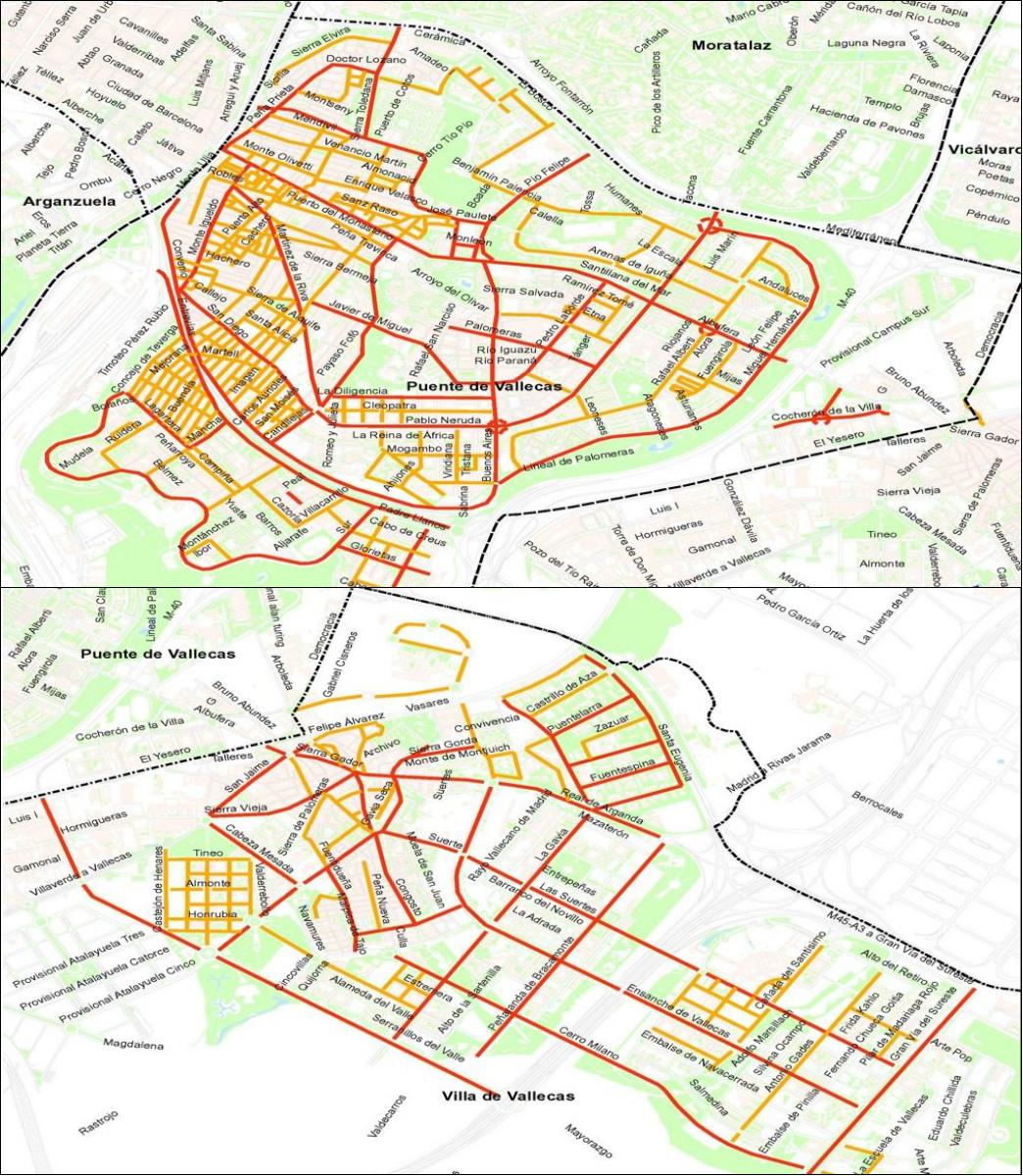 Nueva clasificación de calles en Puente y Villa de Vallecas (Foto: JMD)