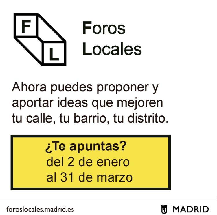 Convocatoria de participación en los Foros Locales (Foto: Ayto. de Madrid)