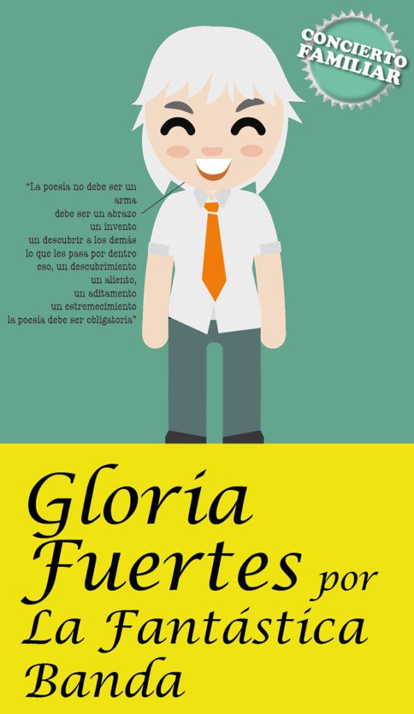 Cartel de 'Gloria Fuertes por La Fantástica banda'