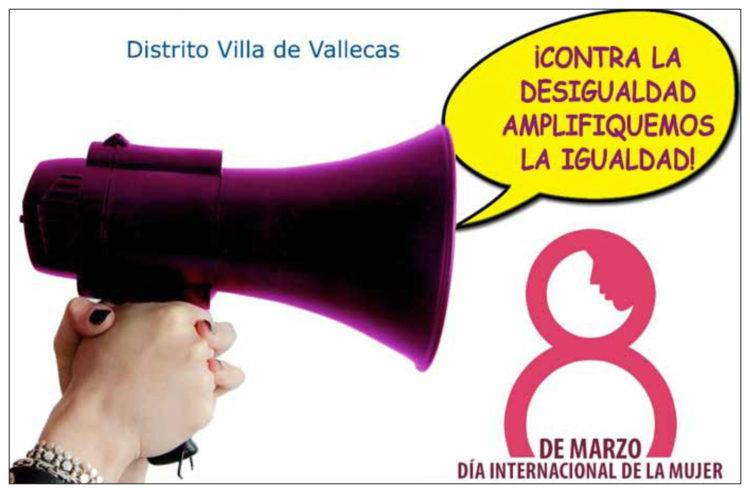 Villa de Vallecas acoge la marcha por la igualdad