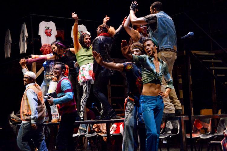 Montaje de 'Rent' en Broadway