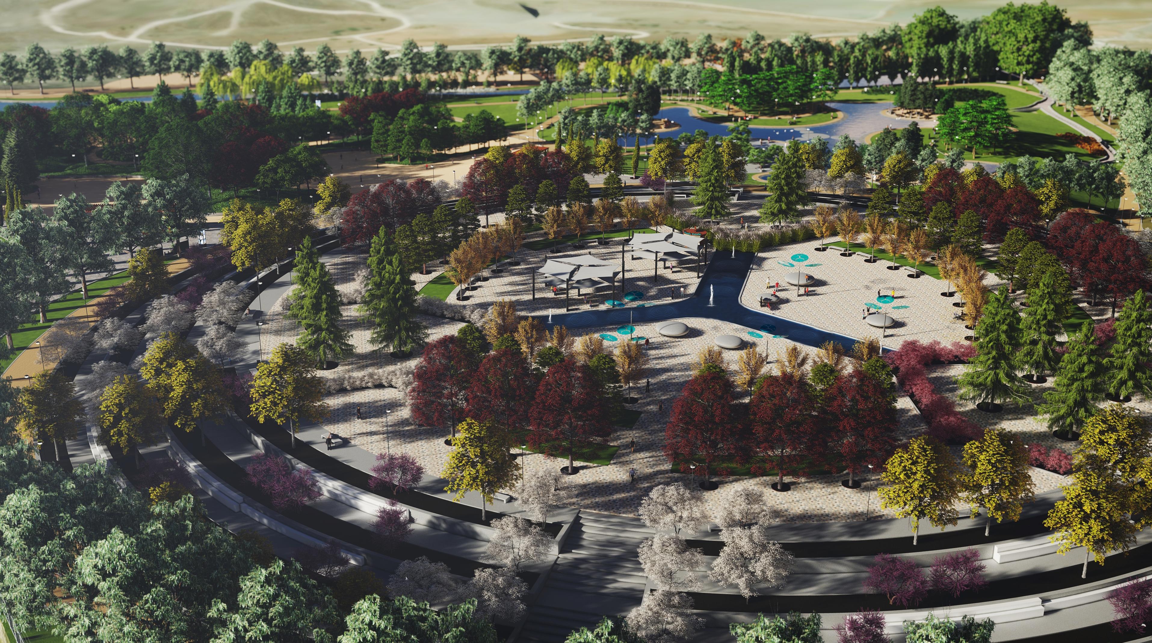 Vista de la futura Plaza del Agua