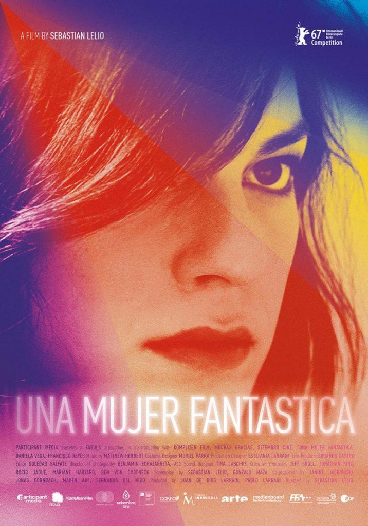 Cartel de 'Una mujer fantástica' de Sebastián Lelio