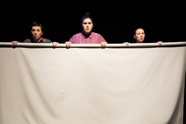 Un momento de 'Elisa y Marcela', de la compañía teatral A Panadaría