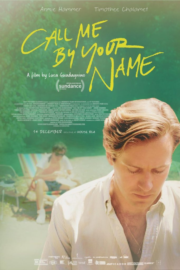 Cartel de 'Call Me by Your Name'