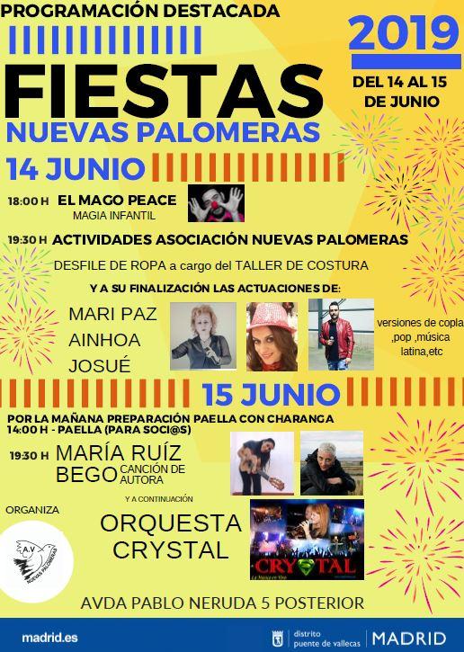 Fiestas en Nuevas Palomeras (Ayto. de Madrid)