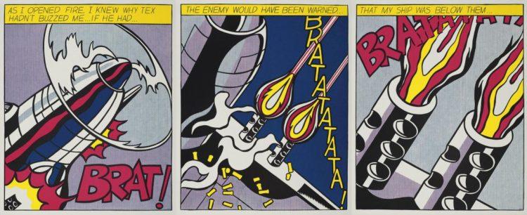 Roy Lichtenstein, 'As I opened fire', Suite de 3 litografías