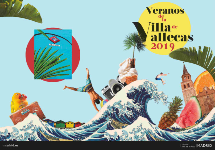 Cartel de los Veranos de la Villa de Vallecas 2019