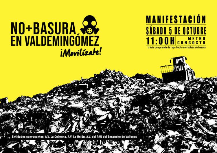 Manifestación contra la llega de basura a Valdemingómez