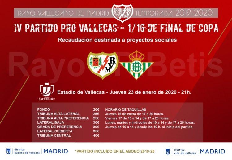 Entradas para el partido Pro-Vallecas de Copa del Rey