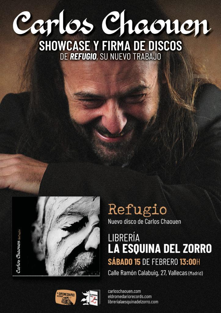 Cartel de la presentación de Carlos Chaouen en La esquina del zorro
