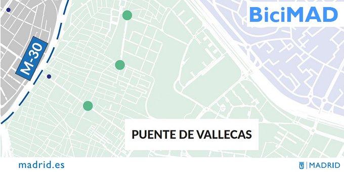Nuevas estaciones de BiciMAD en Puente de Vallecas