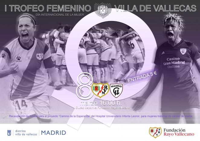 Cartel del I Trofeo Femenino Villa de Vallecas