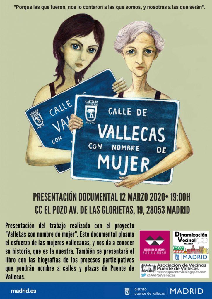 Presentación del documental 'Vallecas con nombre de mujer'